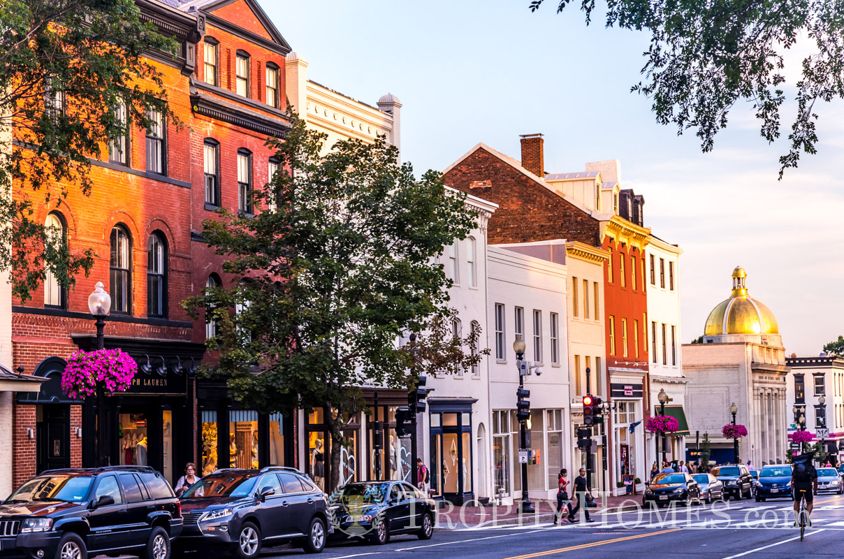 Georgetown dc neighborhood info and trophy homes for sale for Buy house in dc
